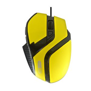 Mouse Gamer USB MS-26 Amarelo 800/1200/1600/2400 DPI