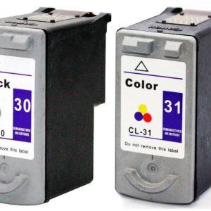 Cartucho de Tinta Compatível Canon PG30  e CL31 com 18ml cada