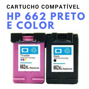 Cartucho Compatível 662 Preto e Color