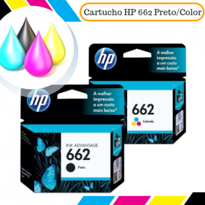 Cartucho Original HP 662 Preto e Color