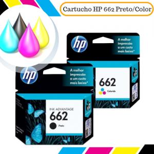 Cartucho Original HP 662 Preto e Color