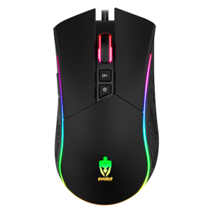 Mouse Gamer Skadi LED RGB 4800 Dpi – Evolut